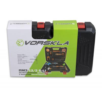Шуруповерт аккумуляторный с набором инструментов VORSKLA ПМЗ 12/2 S-LI